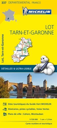 Lot, Tarn-et-Garonne : 1/150 000 (Départemental) por Michelin