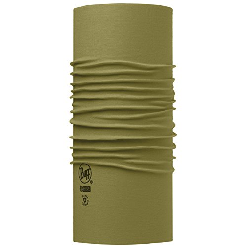 Buff Erwachsene Multifunktionstuch INSECT SHIELD SOLID OLIVE grün, One size Buff High Uv-protection