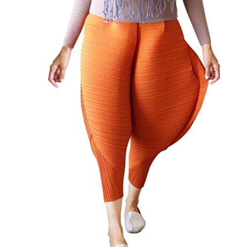 Malloom® Frauen-Huhn-Hosen-Neuheit-feste lose Hosen-Gamaschen (braun, L) (Bein Hose Tweed)