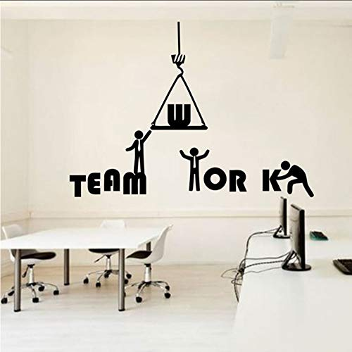 Stickerbüro Zitat   Idee Teamwork Business Worker Inspire Büro Dekoration Motivation Aufkleber Wandbild Unique59 * 42 Cm (Business Teamwork)