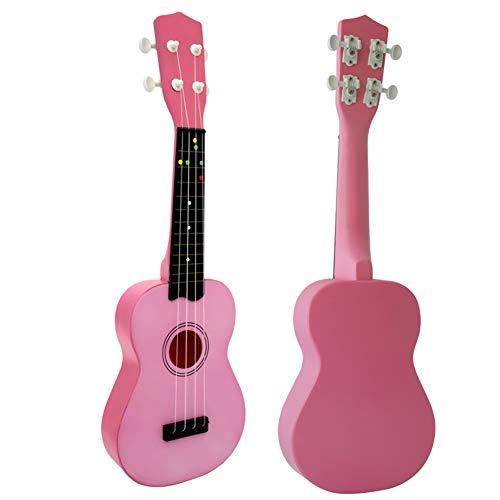 21-Zoll-Ukulele Viersaitige Ukulele für Kinder mit kleiner Gitarre-Pink -