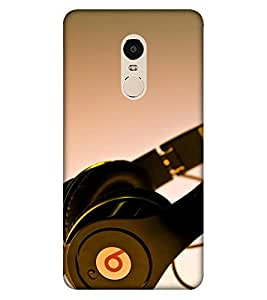 Takkloo Headphone picture music lover,song listener over headphone, trendy pics) Printed Designer Back Case Cover for Xiaomi Redmi Note 4 (2017 Edition)