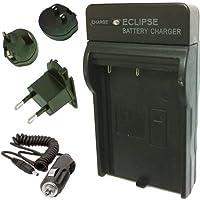 Eclipse SLB07A Cargador de Samsung SLB-07A slb07de a ES55ST50Cargador de batería con UK EU Estados Unidos adaptador de conector y Auto AC de Viaje