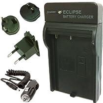 Eclipse CANON BP-508, BP-511, BP511, BP-511A, BP-512, BP-522, BP-535 Chargeur de Batterie avec EURO UK US Voyage Plugs (Charge Rapide)