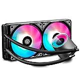 DEEPCOOL CASTLE 280 RGB 280mm Radiateur,Watercooling,Éclairage RGB Avancé,Contrôle...