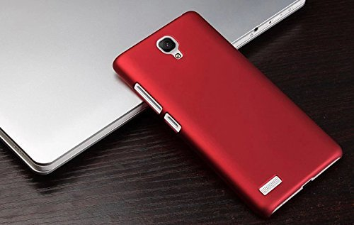 Febelo Branded Rubberised Matte Finished Hard Back Case Cover For Xiaomi Redmi Note Prime / Xiaomi Redmi Note Prime - Red Color  available at amazon for Rs.99