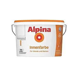 Alpina Innenfarbe, universelle Wandfarbe, 10 Liter, weiß, matt