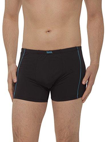 Mikrofaser Herren-shorts (Herren Retro-Pants aus Microfaser, Pants für Männer, Shorts Herren, 4er Pack von Größe 5/M bis14/5XL - Frank Fields, Farbe:blau, Größe:7)