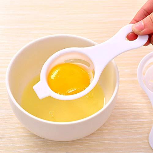 Wokee Plastica Separatore per Uova,Gadget Filtro in plastica Setaccio Divisore,Separatore Cracker d\'uovo Bianco