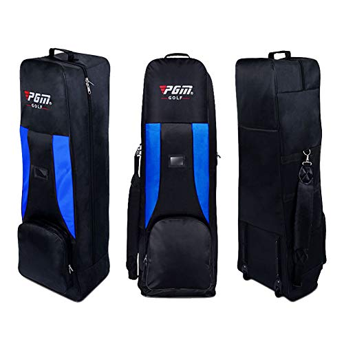 PGM Gepolsterte Golf Bag Travel Cover mit Rollen, black-blue -