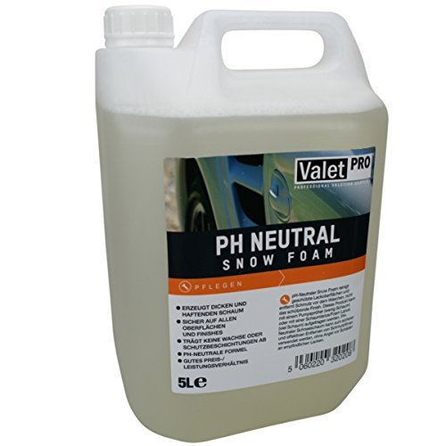 ValetPRO -PH Neutral Snow Foam Shampoo 5 Liter