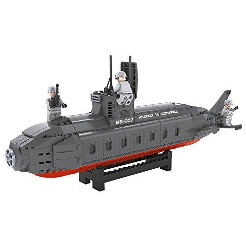 Ausini - Juego de construcción Submarino militar - 502 piezas (ColorBaby 42855)