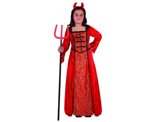 Atosa - Disfraz de chica malvada para niña, talla 3 - 4 años (8422259051893)