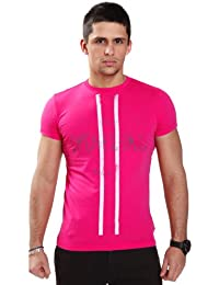 Diesel - T-shirt - Crew - Homme Rose Rose Medium