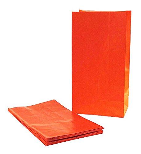 piertüten in Orange für Halloween und Gastgeschenke (Orange Popcorn Für Halloween)