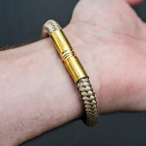 Bullet Band Desert | Armband mit 9mm Hülsen und Paracord -