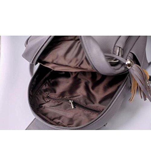 Cuoio Tote Top-maniglia Signore Borsa A Tracolla Impermeabile Sacchetto Di Nappe Grey