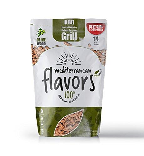 Smoke Flavoring Pellets for BBQ - Olive Wood - 1,5LB (675g) - 2018