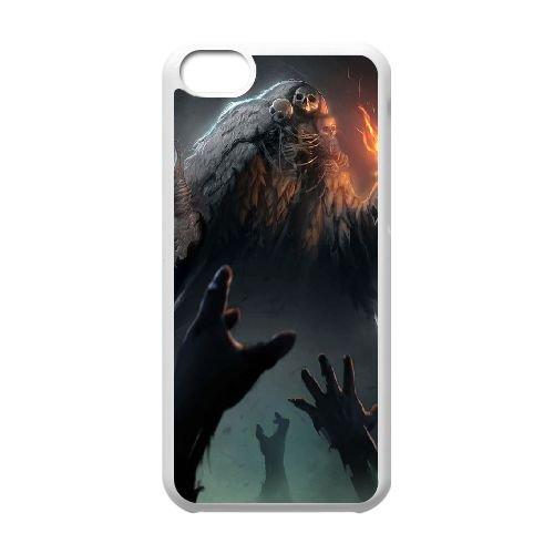 Dark Souls coque iPhone 5C Housse Blanc téléphone portable couverture de cas coque EBDXJKNBO15628