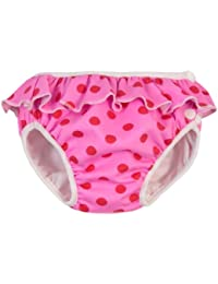 ImseVimse -Swim Diaper, Pink Dots with frill M 7-10kg