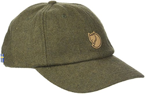 FJÄLLRÄVEN Övik Wool Cap Schirmmütze, Dark Olive, S/M
