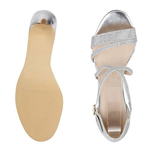 napoli-fashion , Bride cheville femme Silber