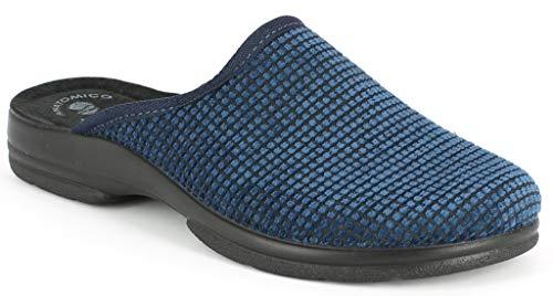 Inblu pantofole ciabatte invernali da uomo invernali mod. po-59 blu (41 eu)