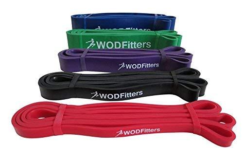 WODFitters - Bandas de Movilidad y Accesorio para dominadas - El Set Incluye 4 Bandas