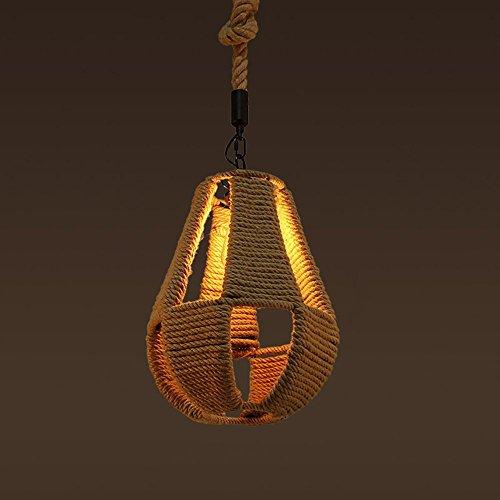 Fünf-licht-leuchter-glühlampen (MOMO Amerikanischer Dorf-Retro kreativer Hanf-Seil-kleiner Leuchter, handgewebter Leuchter für Bar, Thema-Restaurant, Café,* 5 *)