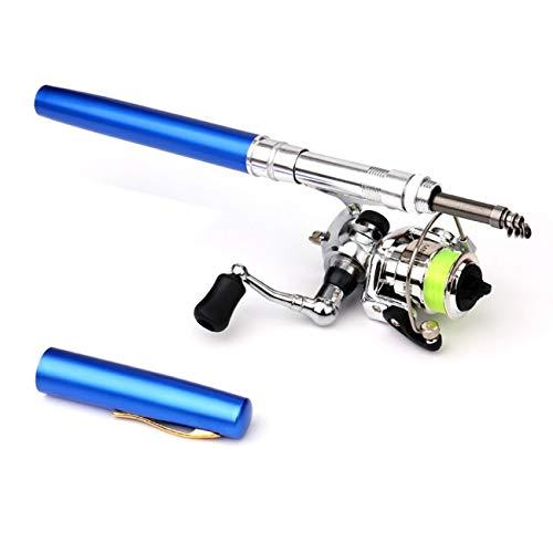 Elviray Mini Tragbare Stift Typ Angelrute Teleskop Angelrute mit Metall Angelrolle Outdoor Angelgerät Zubehör