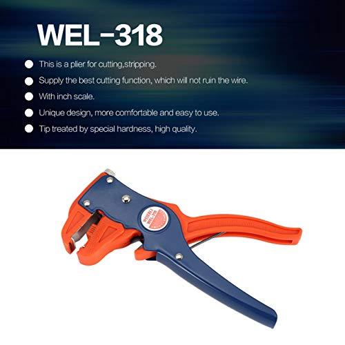 Multifuncional Cable automático Pelacables Cortador Pelacables de corte de alambre (Color: azul...