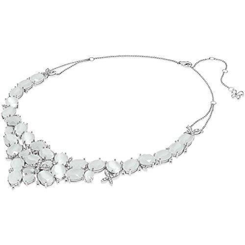 Collana comete farfalle di enzo miccio gla141 argento zirconia