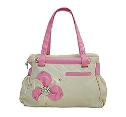Regalovalle Women's Elegance Style Handbag Cream (LB-8)