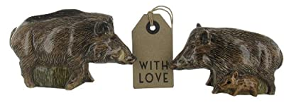 Wild Boar Salt And Pepper Pots- includes gift tag from Giftsforthepresent