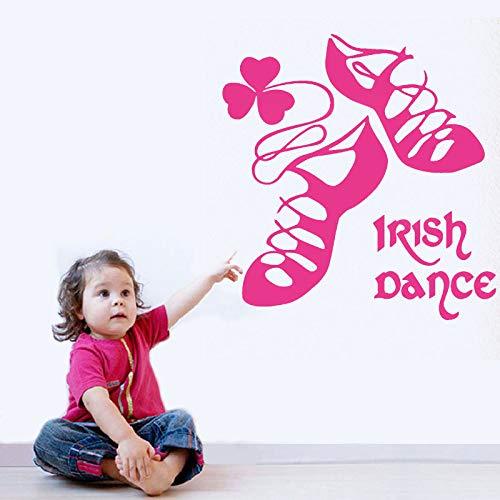 WSYYW Irish Dancing Ireland Wand Vinyl Aufkleber Tanzschuhe Wohnkultur Für Mädchen Schlafzimmer Aufkleber Irishman Haus Dekoration Wandbild b1 42x43 cm