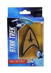ORB Star Trek USB-Speicherstick in Form eines Star-Trek-Abzeichens (4GB), goldfarben