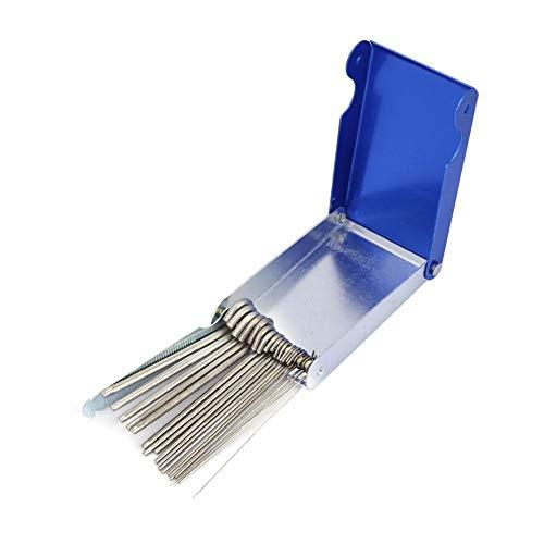 Garosa 21 pcs detergenti per punte set di pulitori per ugelli professionali per saldatura a gas per la pulizia di punte di saldatura per ugelli di taglio
