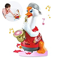 ACTRINIC Baby Musical Toys 12-18 months Early Education Funny Dancing Hip-Hop Swing Goose ,Music/Walking/Flashing Lights,Best Gift for 1 2 3 Years Old Boys Girls Toddler Toys(Random Color)