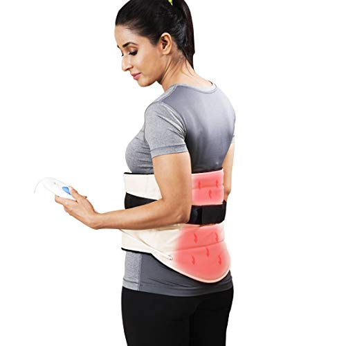 JSB Electric Orthopedic Heating Pad for Lumbar Back Pain Relief