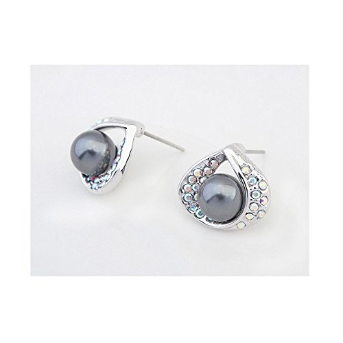 MT, Borsa a spalla donna Perle blanc Perle gris foncé
