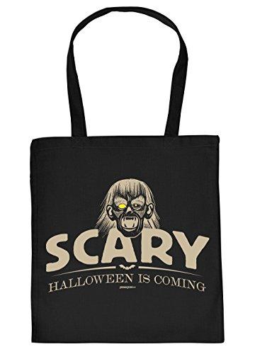 asche/Spaß-Motiv-Tasche Thema Halloween: Scary Halloween is coming - Geschenkidee (Halloween Scary Themen)