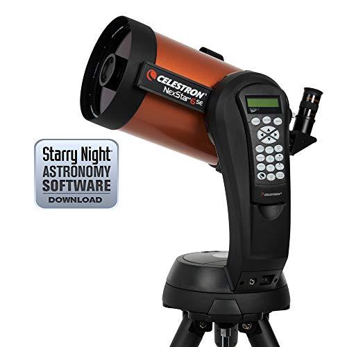 "Celestron NexStar 6 SE - Telescopio computarizado de 6"", Negro y Naranja"