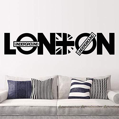 London Wandaufkleber Union Jack Wandtattoo Removable Home Decor Selbstklebende Wandbilder Für Wohnzimmer Schlafzimmer 69x58 cm