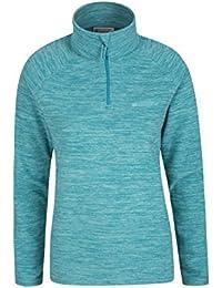 Mountain Warehouse Snowdon Womens Fleece Jacket - Antipill, Lightweight Sweater, Half Zip, Breathable Ladies Coat, Quick Drying - For Walking, Travelling