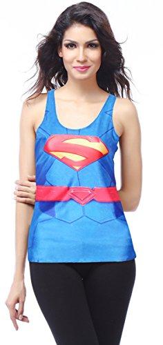 THENICE Damen Reizvolle dünne Muskelshirt ärmellos T-Shirt Weste Super