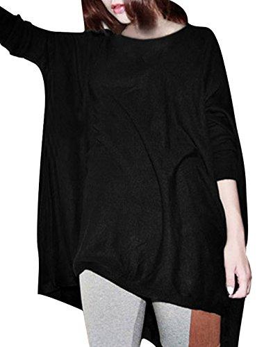 allegra-k-ladies-loose-batwing-oversize-tops-round-neck-blouse-xl-uk-20-black