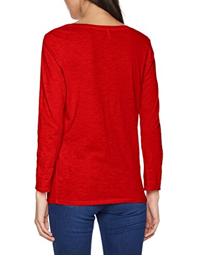 ONLY Damen Langarmshirt Rot (Flame Scarlet)
