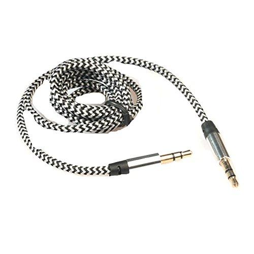 Audio-micro-steckverbinder (Sky ★ ★ 1pc 3.5mm Stereo AUX-Audio-Kabel männlich auf männlich für Smart Phone 3m weiß)