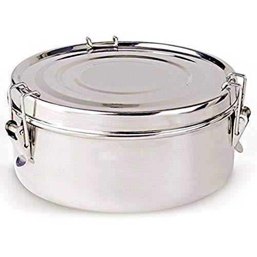 Ls kitchen - contenitore termico per il pranzo - borsa termica per alimenti - acciaio inox - 2 piatti - 16 cm - argento