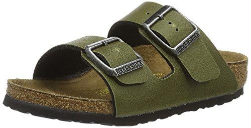 Birkenstock Kids Unisex-Kinder Arizona Pantoletten, Grün (Pull Up Olive), 30 EU